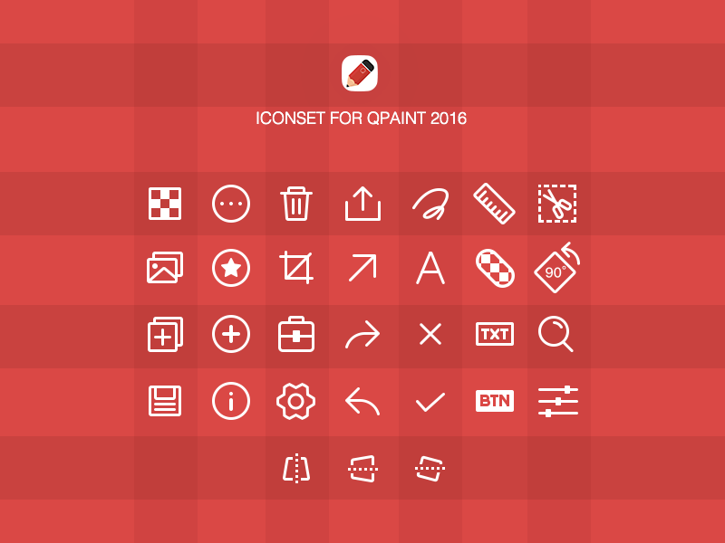 Iconset for QPaint 2016 iconset