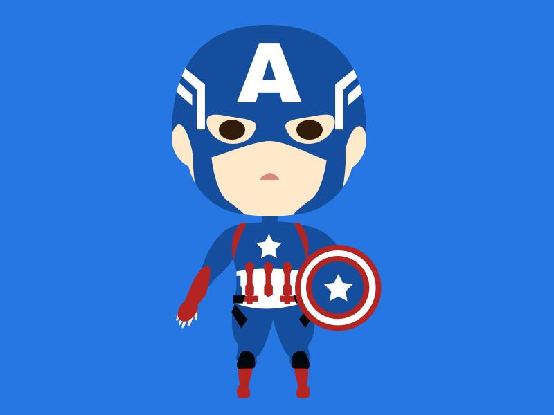 A captain america marvel character sketch illustrator