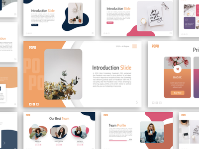 Popo - Creative and Multipurpose Presentation Template ui business powerpoint template presentation template presentation layout presentation design powerpoint creative presentation