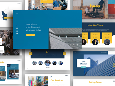 Kareer - Business and Multipurpose Presentation Template ppt ui pitch deck powerpoint presentation presentation template presentation layout powerpoint template creative presentation presentation design powerpoint business