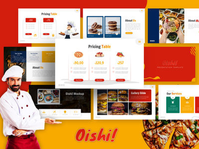 Oishi! - Culinary and Multipurpose Presentation Template culinary ppt ui pitch deck business powerpoint presentation presentation layout presentation template powerpoint template presentation design powerpoint creative presentation creative