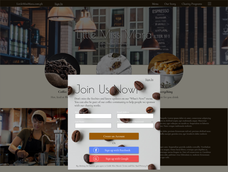 UI Daily Challenge 1 - Sign Up Page web design ui