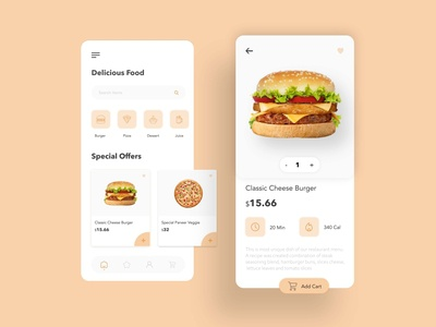Food Delivery App design ux ui android app ios restaurant product design icon illustraion ecommerce dashboad delivery app food pizza drinks food app burger app add to cart app mobile app