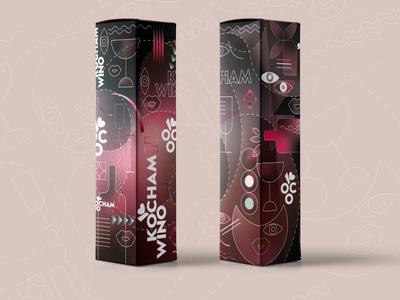 Wine package box wine illustraion design package