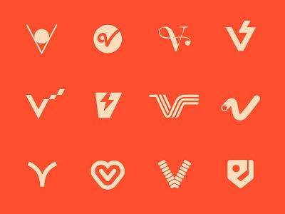 V logodesign mark logo