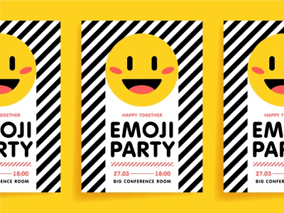 Emoji party party emoji poster graphic design