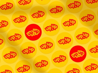 Up&Up Stickers logo identity branding entertainment shop fun stickers graphic design