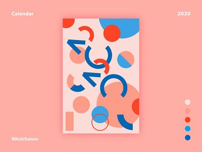Calendar 2020 graphic design calendar 2020