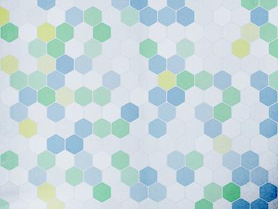 Processing experiment - Hexagons processing generative generated geometric