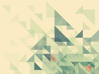 Processing experiment - Spaced triangles geometric generated generative processing sketch