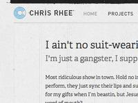 Chris Rhee: Personal Site