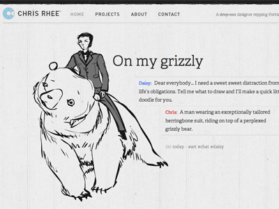 Chris Rhee - Another Custom Post web website wordpress personal adelle typekit post illustration grid black and white