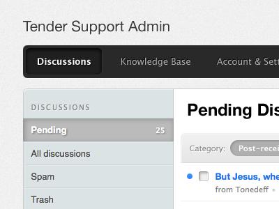 Tender - Admin - Navigation, Sidebar tenderapp tender app web ui helvetica lucida navigation