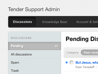 Tender - Admin - Navigation, Sidebar