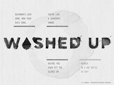 Chris Rhee - Custom Post (Bender Edition) black and white web website wordpress personal hiphop rap post quote lyric gotham mensch