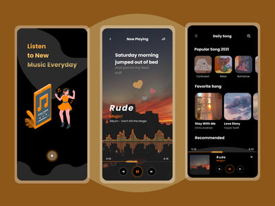 Music Player App homepage design home screen home page mobile app design mobile app mobile ui design app uiux uidesign music application music app ui music app design music app music player android app design android app minimal ux ui design
