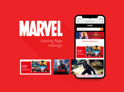 MARVEL Landing Page redesign