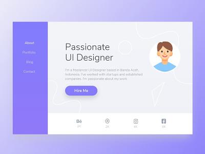 Web Landing Profile Concept Design ux branding ui logo website concept website design webdesign bootstrap css html programmer portfolio profile