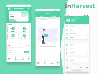 Inharvest - Dashboard & Search Design