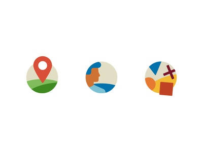 Places, people & objects icons