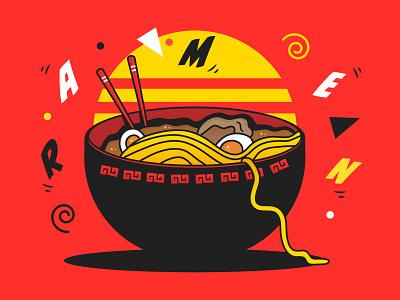 Ramen asia asian food food art ramen illustration japanese art ramen art noodle noodles food vector design illustration japanese food japan ramen