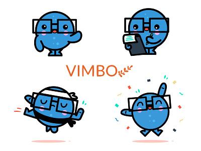 Vimbo mascot logo blue vector art health app health care character branding vector design illustration character design mascot