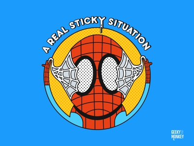 A real sticky situation charater design spider comic art marvel comics comic marvel movies tv vector design illustration web spider web spider man spider-man spiderman