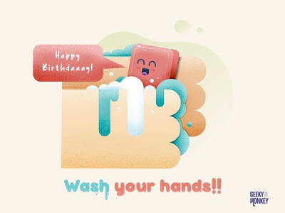 Wash your hands!! virus character character design cute funny funny character clean vector design illustration corona virus coronavirus corona wash hands wash