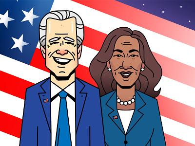 America: A new hope kamala kamala harris trump united states of america usa america president biden character design vector design illustration
