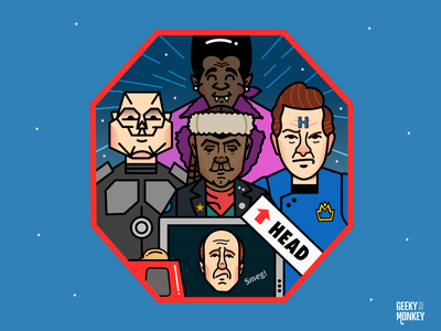 Red dwarf fan art british comedy red dwarf character character design funny tv vector design illustration
