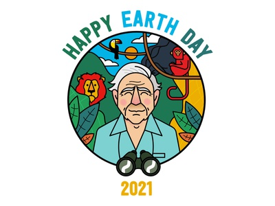 Happy Earth Day 🌎🌱 monkey lion earth day earthday earth vector character design design illustration