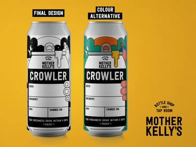 Mother Kelly's Crowler Label Design
