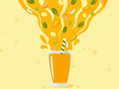Smoothie illustration