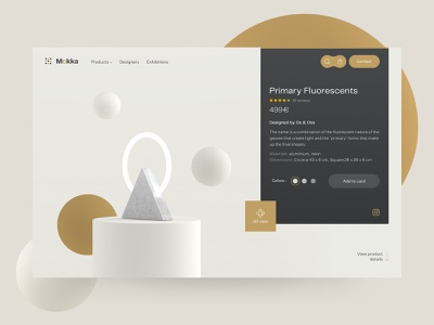 Mokka product design ecommerce shop lamps light minimal motion branding app interface animation clean 3d webdesign concept