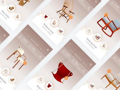 Auction app auction web webdesign design concept mobile ui ux furniture app bid
