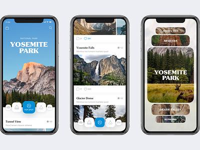 California National Park Guide national park california travel app concept mobile