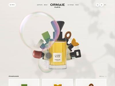 Perfume Concept home ux landing web interface clean webdesign 3d mobile concept cards product design website animation motion ui perfume