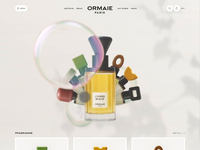 Perfume Concept home ux landing web interface clean webdesign 3d mobile concept cards product design website animation motion ui perfume