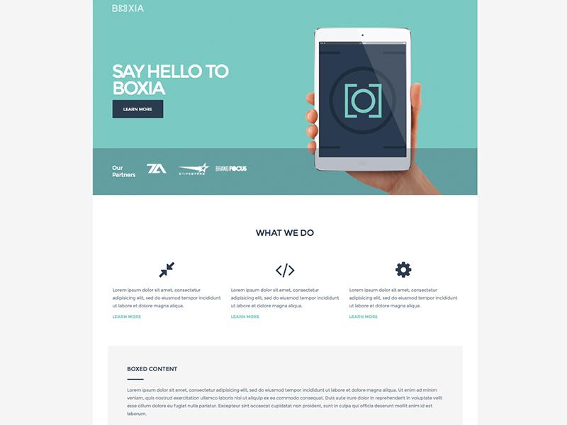 Boxia - By Theme Armada flat ui bootstrap html5 responsive website theme flat web design