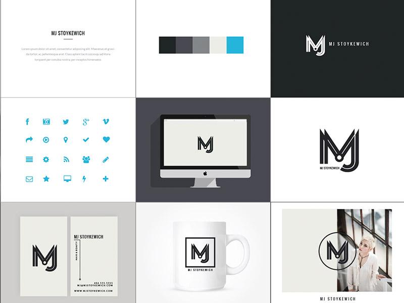 Mj Stoykewich Brand branding responsive logo identity business card