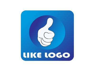 LIKE LOGO LIKE LIKE LOVE LOGO DESING likes logos victor illustrator blue hand logo like
