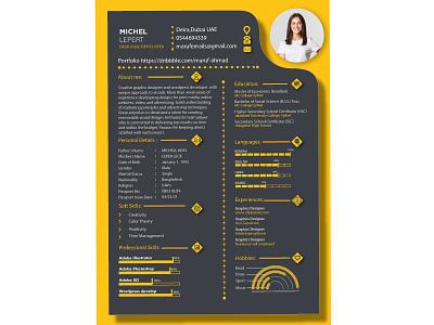 resume illustration adobe illustrator logo design advertising logos banner design branding concept cv resume cv resume template resume