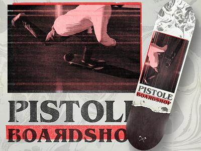 Keep Pushin Deck texture deck pistole skateobarding