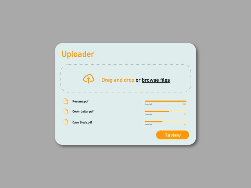 File Upload portfolio resume cloud app cloud uploader upload ui design uidesign ui