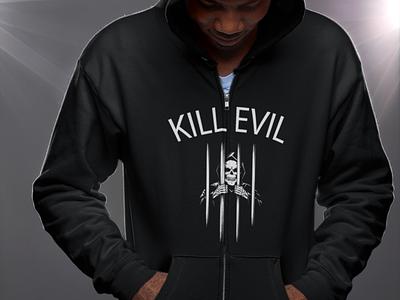 Kill Evil Logo Design tshirt illustration typography graphicdesign stylish logo design