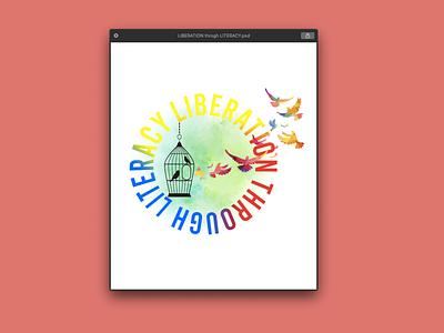 Liberation through Literacy text  Design tshirt illustration typography graphicdesign stylish logo design