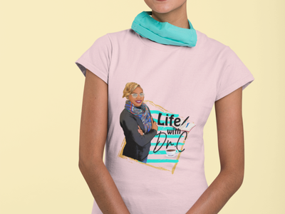 Life With Dr. C Character Design tshirt illustration typography graphicdesign stylish logo design