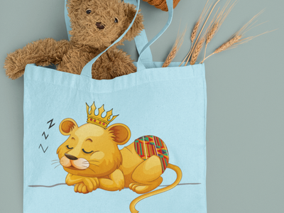 Lion Cub in Pampers Design tshirt illustration typography graphicdesign stylish logo design
