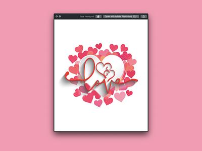 Love Heart Logo Design tshirt illustration typography graphicdesign stylish logo design