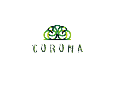 Corona Queen of Fear branding logo design
